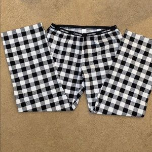 NWOT Calvin Klein Flannel pants